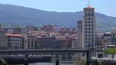 View of the city at noon Stock Footage