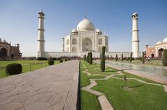 Taj Mahal mausoleum - stock photo