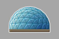 Icon geodesic dome flat Stock Illustration