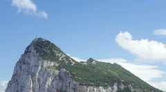 Time lapse of the Gibraltar Rock Stock Footage