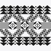 Tribal design. black and white abstract figure. vector graphic - stock illustration