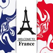France design. eiffel tower landmark. vector graphic Stock Illustration