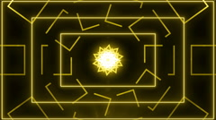 abstract line motion music background LOOP Yellow - stock footage