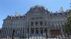 Eisenhower Building in Washington DC - Steadicam Gimbal Shot Stock Footage