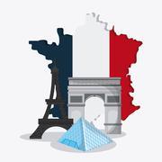 France design. eiffel tower landmark. vector graphic - stock illustration