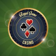 Casino design. Game icon. Colorfull illustration Stock Illustration