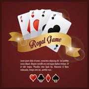 Casino design. Game icon. Colorfull illustration - stock illustration