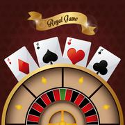 Casino design. Game icon. Colorfull illustration Stock Illustration