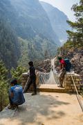 SAGARMATHA, NEPAL-APRIL 27: Himalayas people 27, 2016 in Sagarmatha, Nepal. P Stock Photos