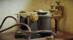 Closeup of a morse code telegraph sender receiver 4k Stock Footage