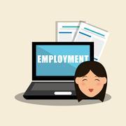 Employment design. Human resources  icon. Isolated illustration - stock illustration