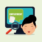 Employment design. Human resources  icon. Isolated illustration Stock Illustration