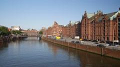 Hamburg Speicherstadt World Heritage, Germany Stock Footage