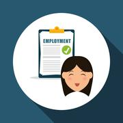 Employment design. Human resources  icon. Isolated illustration - stock illustration