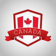 Canadas County design. Maple leaf icon. Shield illustration Stock Illustration