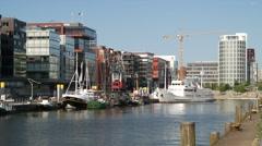 Hamburg City Traditionsschiffhafen Germany Stock Footage
