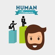 Human resources design. Person icon. Isolated illustration Stock Illustration