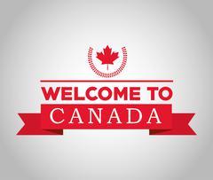 Canadas County design. Maple leaf icon - stock illustration