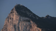Morning scene of the summit of Gibraltar Rock Stock Footage