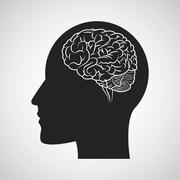 Brain design. organ icon. Flat illustration, vector graphic Stock Illustration