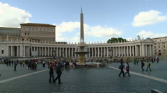Vatican City Main Square Stock Footage