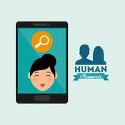 Human resources design. Person icon. Isolated illustration - stock illustration