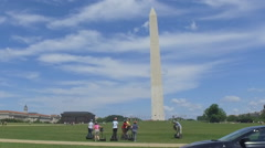 Washington Monument Steadicam Shot  - view of iconic tourist spot Stock Footage