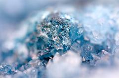 blue crystals Agate SiO2. Macro - stock photo
