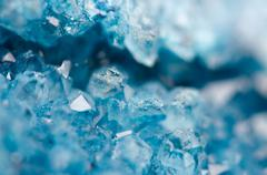 Blue crystals Agate SiO2. Macro Stock Photos