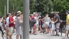 Tourism in Washington DC White House - President of the United States Stock Footage