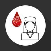 Medical care design. nurse  icon. White background, isolated ill Stock Illustration