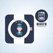 Health care design. technology icon. isolated illustration, vect - stock illustration