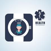 Health care design. technology icon. isolated illustration, vect Stock Illustration