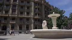 Low angle view of the Jado fountain Stock Footage