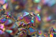 Multi-coloured crystals macro Stock Photos