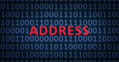 ADDRESS word with binary numbers Stock Footage