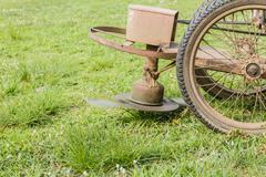 Old Lawn mower - stock photo