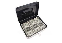 Money in cash box - stock photo
