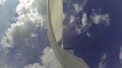 Yacht's Sail Change Sides, Positions In Strong Winds HD - stock footage
