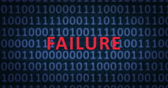 FAILURE word with binary numbers - stock footage