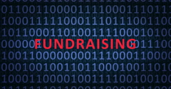 FUNDRAISING word with binary numbers Stock Footage