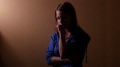 Sad teen girl. 4K UHD Stock Footage