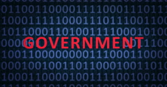 GOVERNMENT word with binary numbers Stock Footage