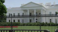 Establishing shot of Washington DC White House - President of the United States Stock Footage