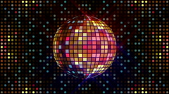 Disco ball animation Stock Footage