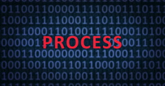 PROCESS word with binary numbers Stock Footage