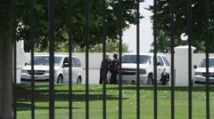 Secret Service Agents outside the White House Stock Footage