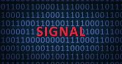 SIGNAL word with binary numbers Stock Footage