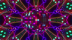 Disco ball animation - stock footage