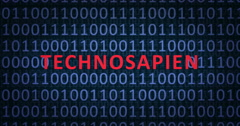 TECHNOSAPIENS word with binary numbers Stock Footage